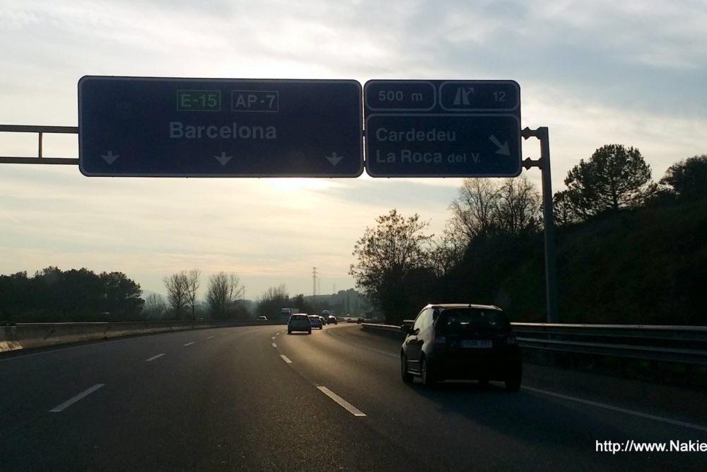 Autobahn AP7 nach Barcelona