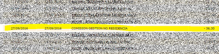 comision gestion no residencia