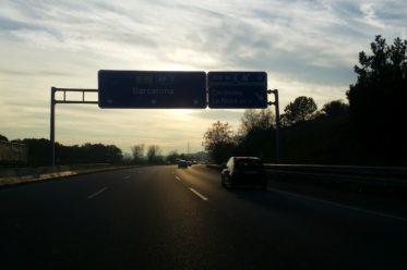 Autobahn nach Spanien