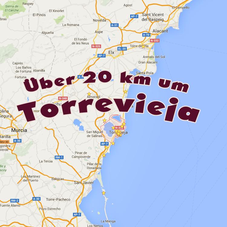 Über 20 km um Torrevieja