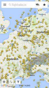 Flightradar24 zeigt, was am Himmel los ist