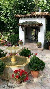 Brunnen und Blumen