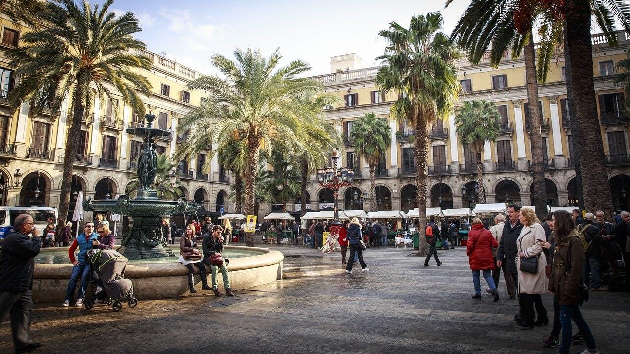 Marktplatz in Barcelona