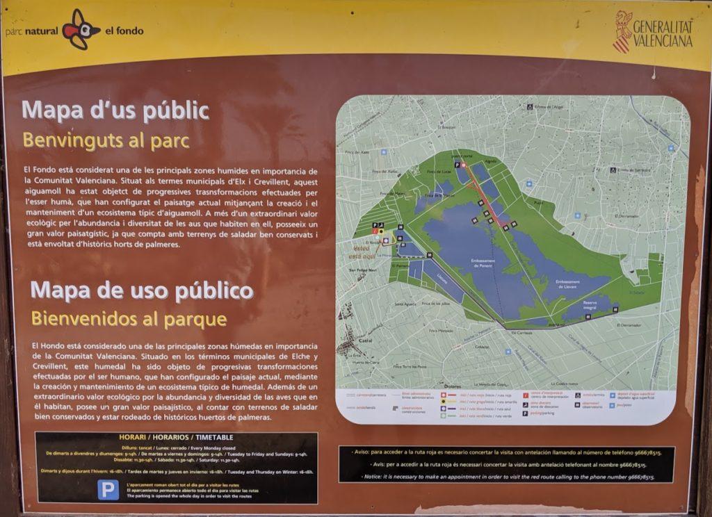 Die Karte der Wanderwege