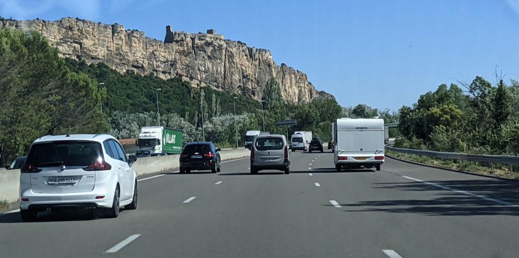 Auf der Autobahn in Frankreich