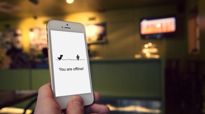 EinSchritt zu weit und man ist offline